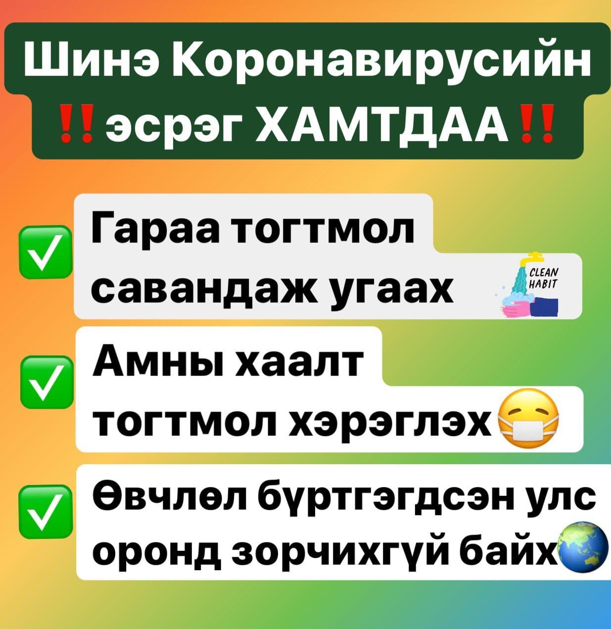 Корона вирусын халдвараас сэргийлэх гурван үндсэн зөвлөмж тараагдаж байгаа ч дараах зөвлөмжийг гэр орондоо чандлан сахих нь зүйтэй байна.